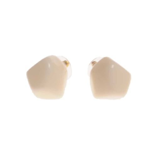 Jackie Brazil Abstract Camille Stud Earrings in Cream